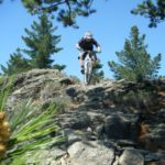Mountain biker in Alexandra cross country riding